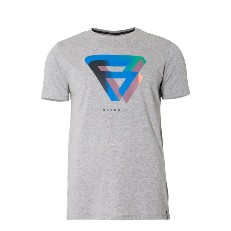 Brunotti Lester  (grijs) - heren t-shirts & polo's - Brunotti online shop