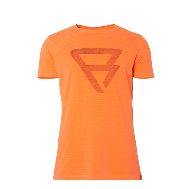 Brunotti Alec  (oranje) - heren t-shirts & polo's - Brunotti online shop
