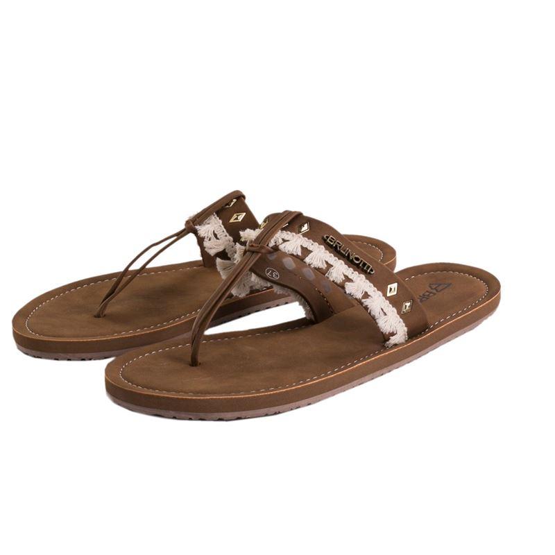 Brunotti Fieke  (brown) - women flip flops - Brunotti online shop