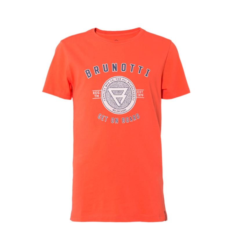 Brunotti Warped JR Boys  T-shirt (Rood) - JONGENS T-SHIRTS & POLO'S - Brunotti online shop
