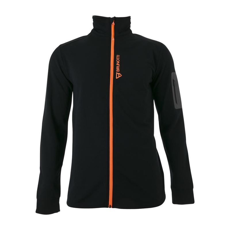 Brunotti Nikko  (zwart) - heren fleeces - Brunotti online shop