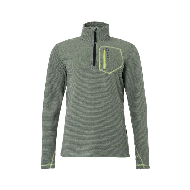 Brunotti Aldrin  (groen) - heren fleeces - Brunotti online shop