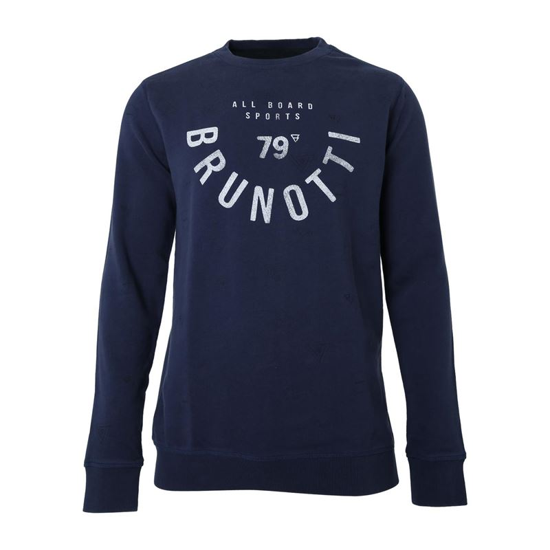 Brunotti Kodiak Men Sweat (Zwart) - HEREN TRUIEN & VESTEN - Brunotti online shop