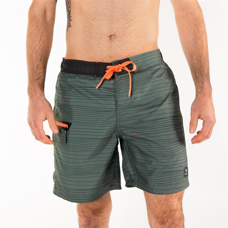 Brunotti Frye  (groen) - heren zwemshorts - Brunotti online shop