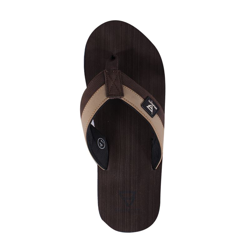 Brunotti Brushed  (brown) - men flip flops - Brunotti online shop