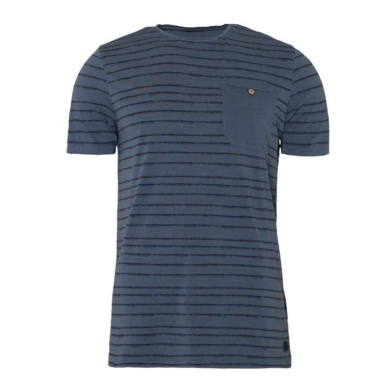 Brunotti Grosman  (blauw) - heren t-shirts & polo's - Brunotti online shop