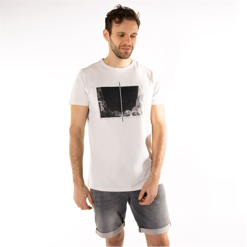 Brunotti Gus  (wit) - heren t-shirts & polo's - Brunotti online shop