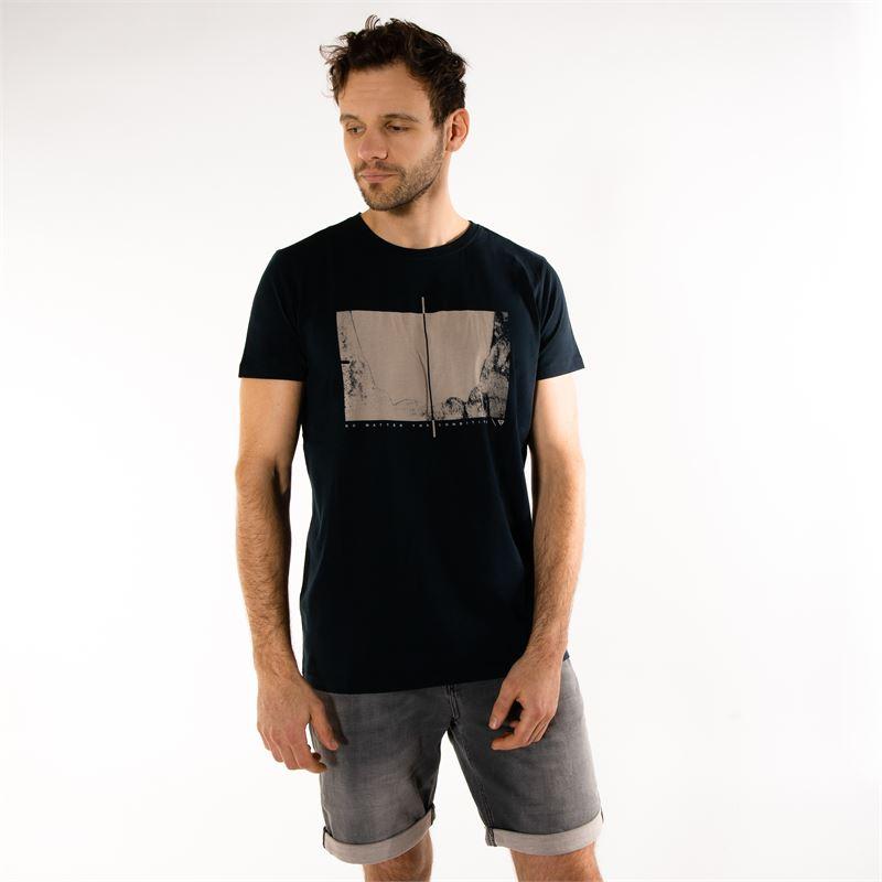 Brunotti Gus  (zwart) - heren t-shirts & polo's - Brunotti online shop