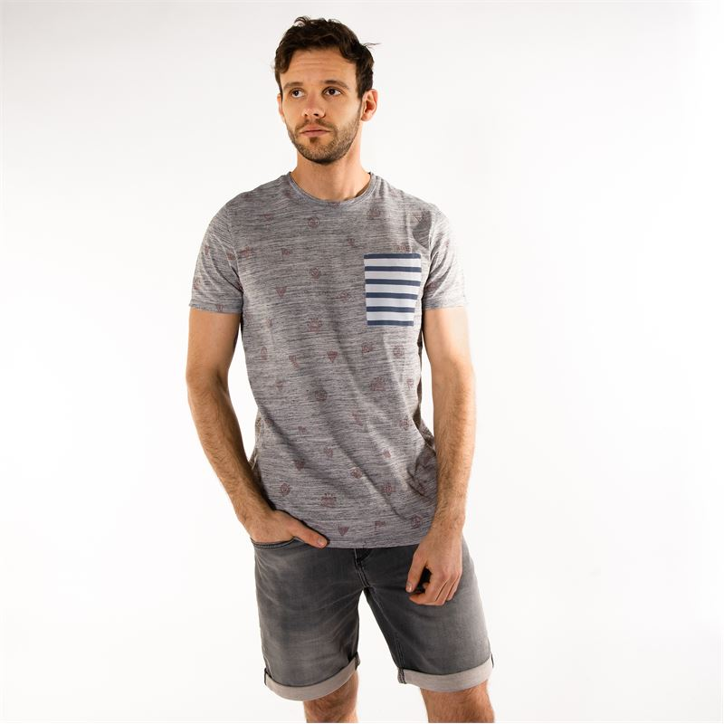 Brunotti Ling  (grey) - men t-shirts & polos - Brunotti online shop