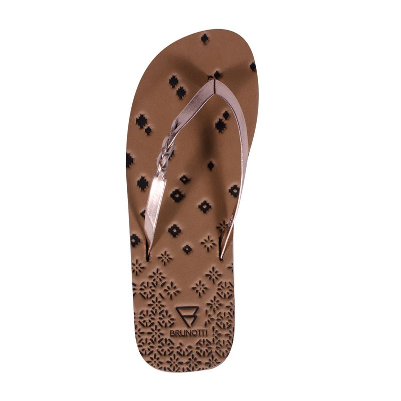 Brunotti Braided  (brown) - women flip flops - Brunotti online shop