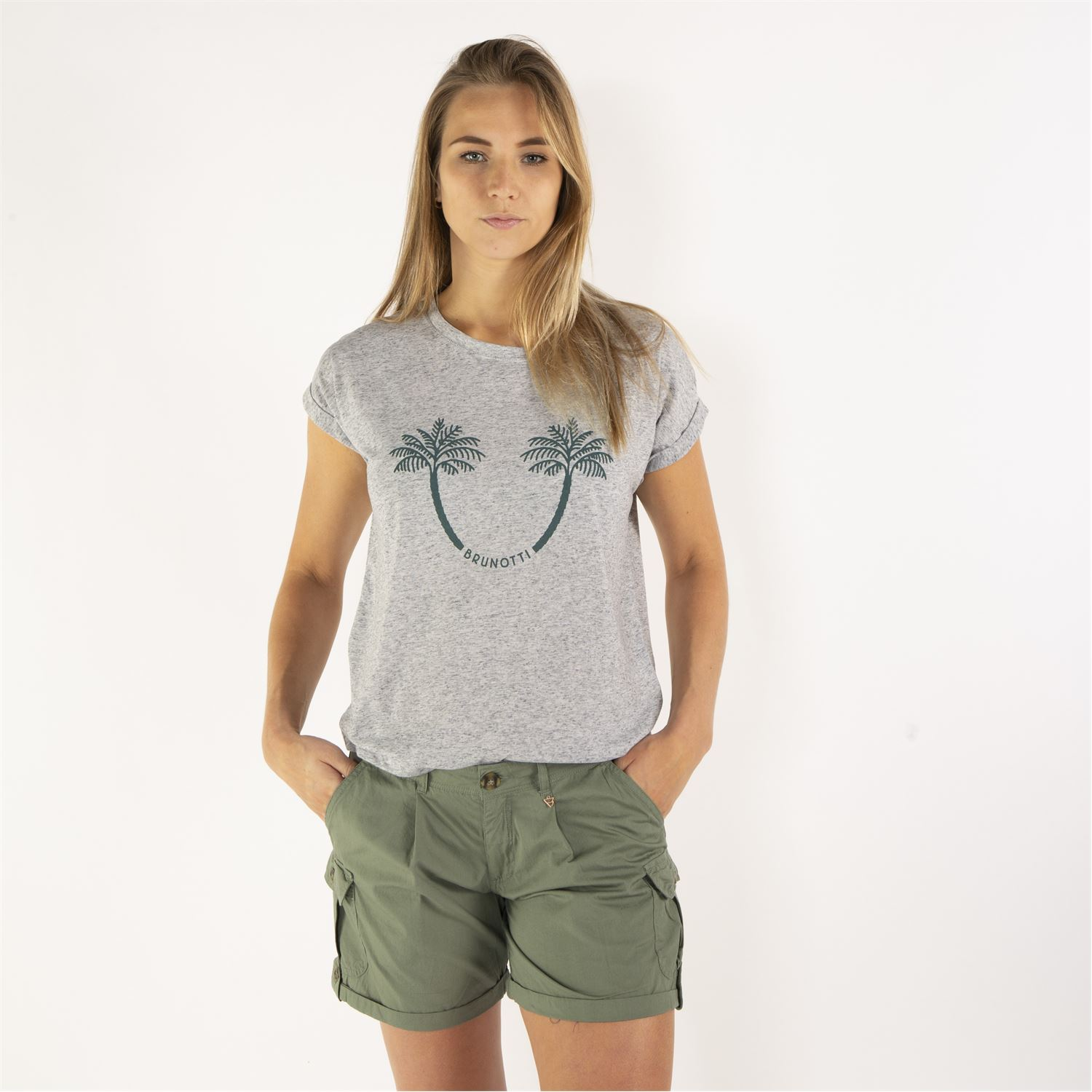 38bae6982e6ba Brunotti Acacia (grey) - women t-shirts & tops - Brunotti online shop. Our  model is 176 cm tall and wears size M. Sale. Thumb 2 Thumb 3 Thumb 8 Thumb  1 ...