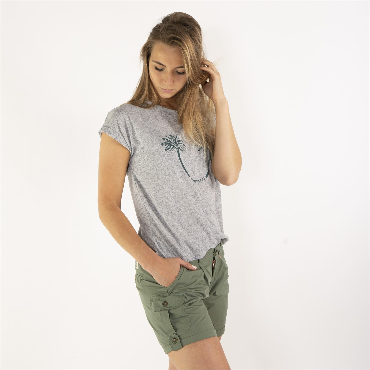 c5a1d622c3881 Brunotti Acacia (grey) - women t-shirts & tops - Brunotti online shop. Our  model is 176 cm tall and wears size M. Sale. Thumb 2 ...