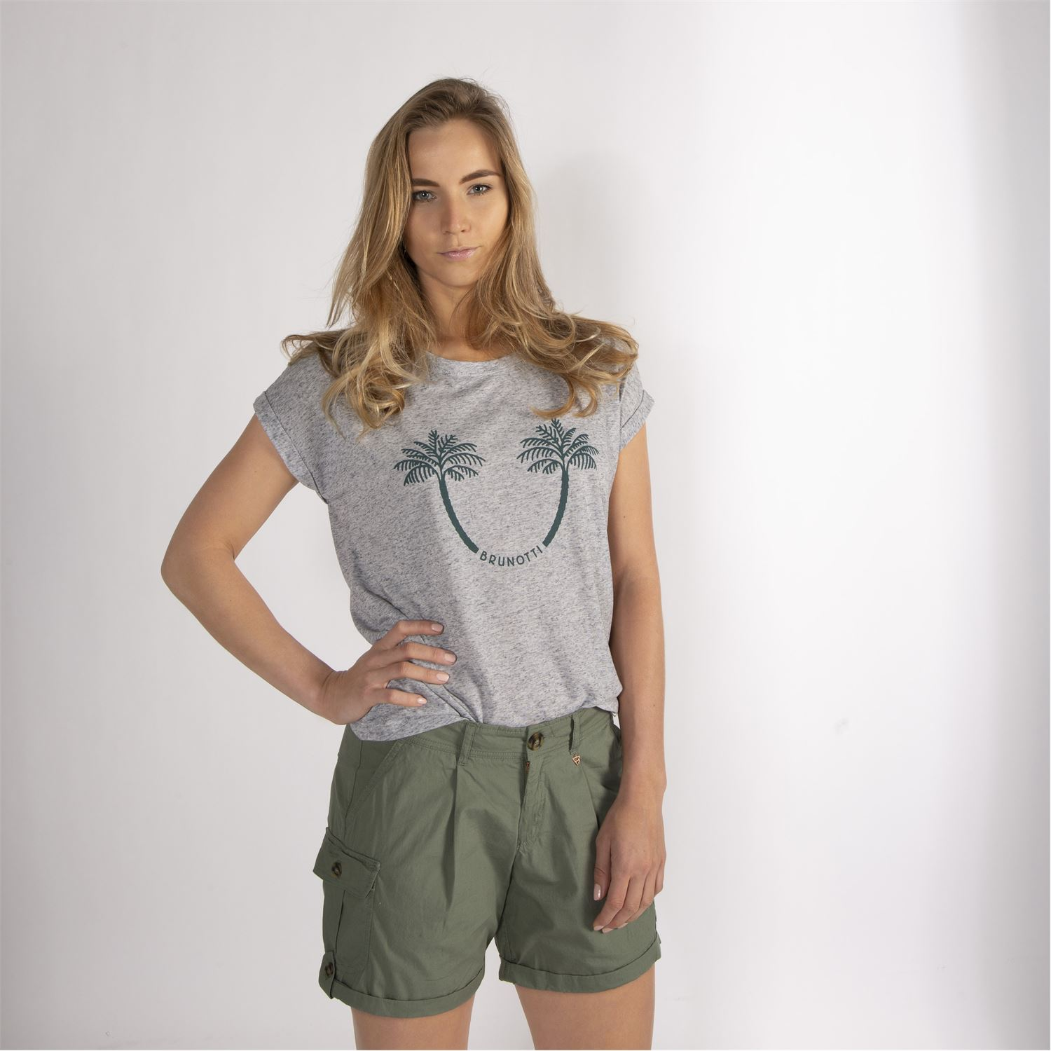 97fa2060850e6 ... women shorts - Brunotti online shop. Our model is 176 cm tall and wears  size M