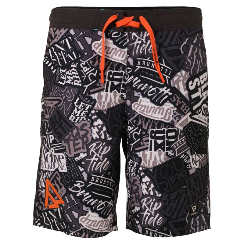Brunotti Timin  (black) - boys swimshorts - Brunotti online shop
