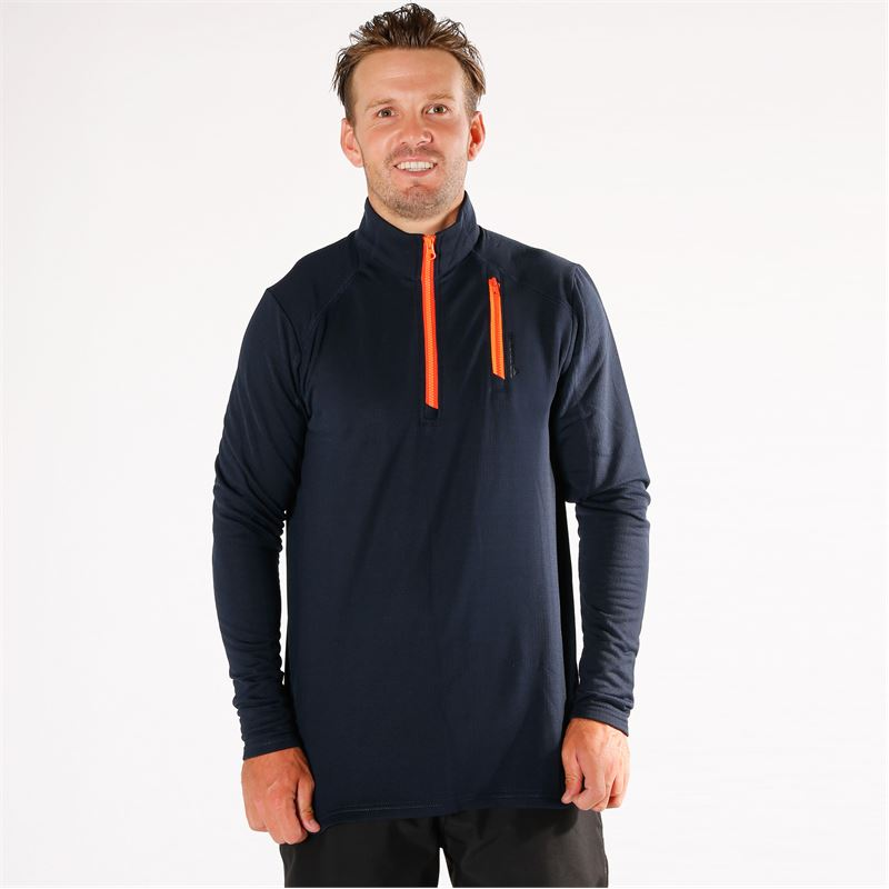 Brunotti Pintall  (blauw) - heren fleeces - Brunotti online shop