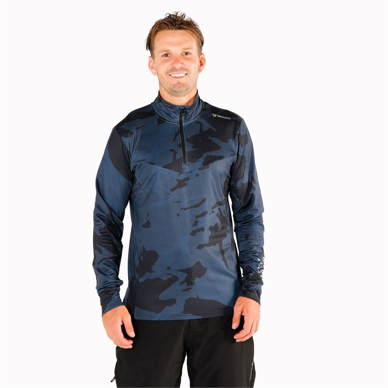 Brunotti Avocet  (blauw) - heren fleeces - Brunotti online shop