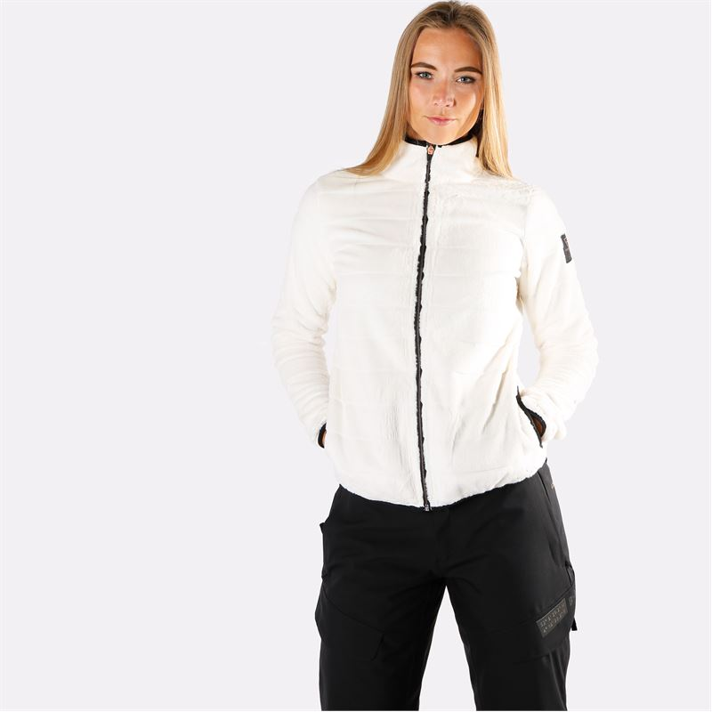 Brunotti Turaco  (wit) - dames fleeces - Brunotti online shop
