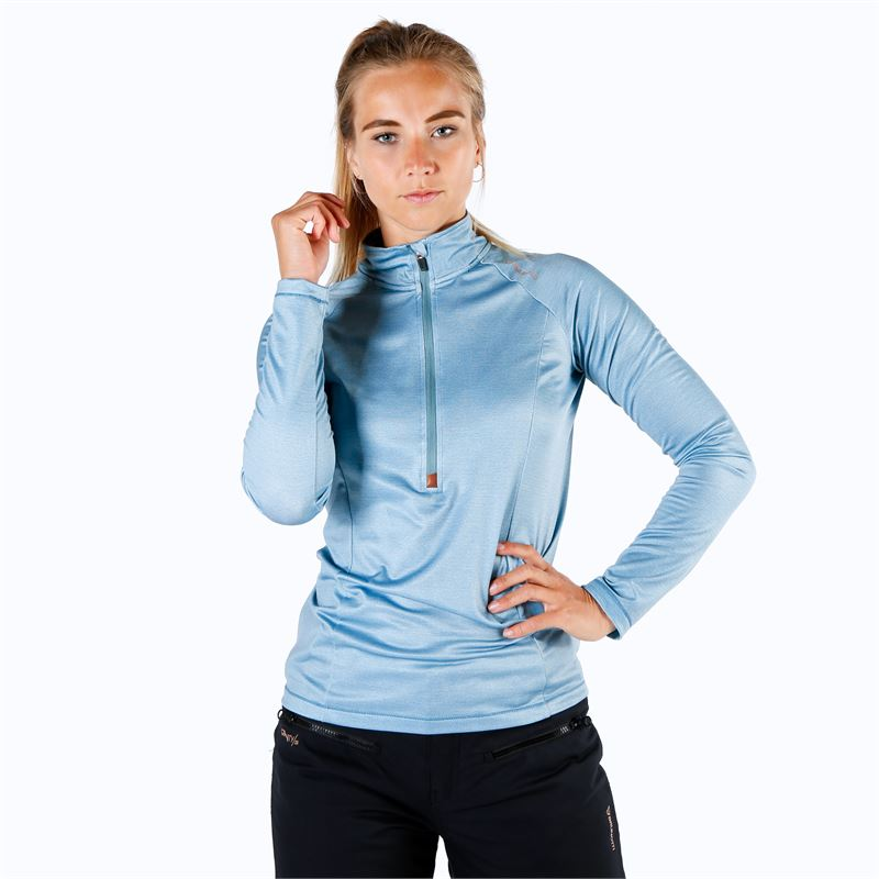 Brunotti Yrenna  (blauw) - dames fleeces - Brunotti online shop
