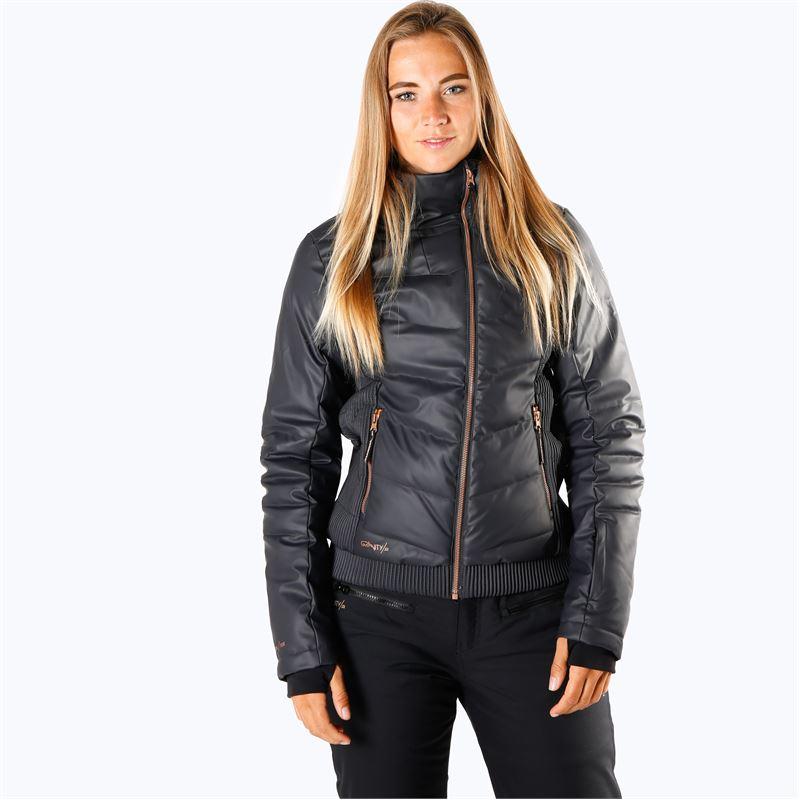 Brunotti Sega-PU  (grijs) - dames ski-jassen - Brunotti online shop