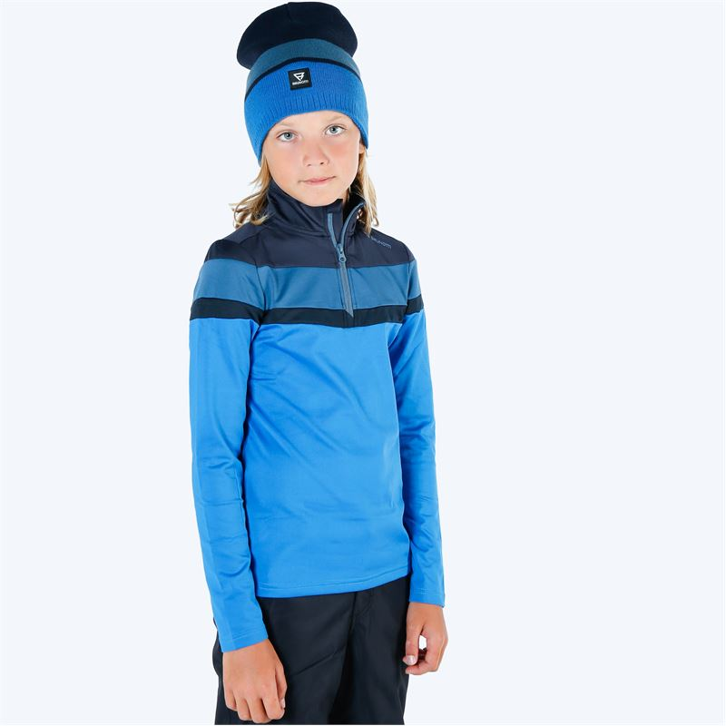 Brunotti Thornbill  (blauw) - jongens fleeces - Brunotti online shop