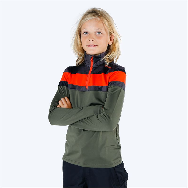 Brunotti Thornbill  (groen) - jongens fleeces - Brunotti online shop
