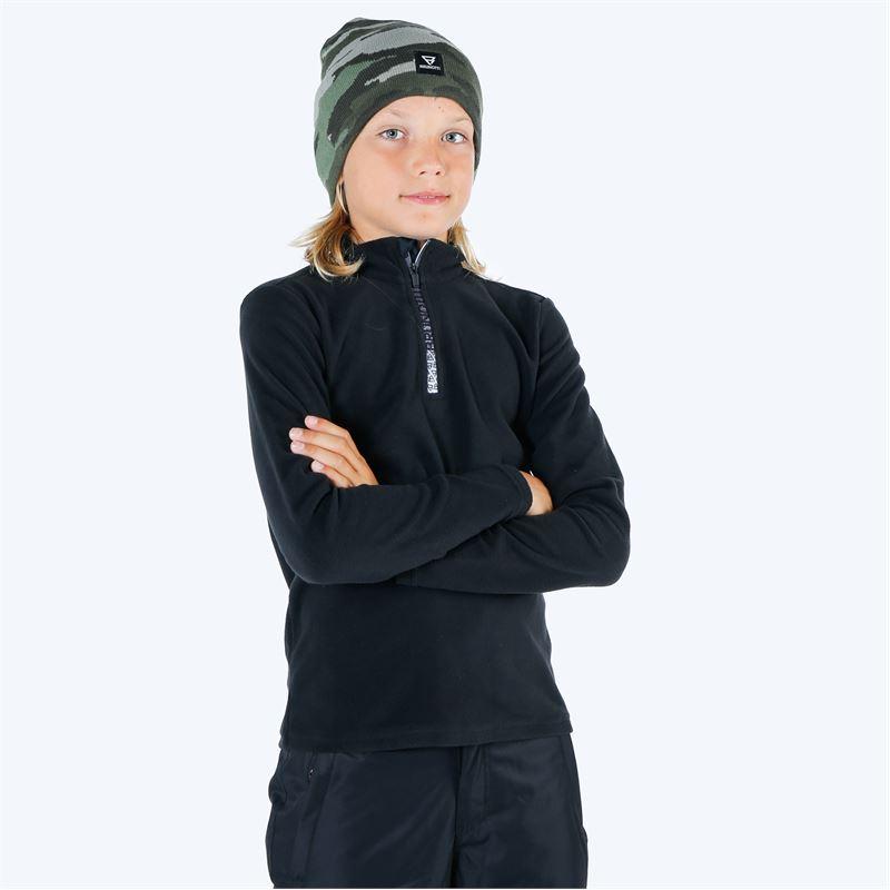 Brunotti Tenno  (zwart) - jongens fleeces - Brunotti online shop