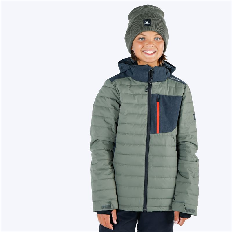 Brunotti Trysail  (groen) - jongens ski-jassen - Brunotti online shop