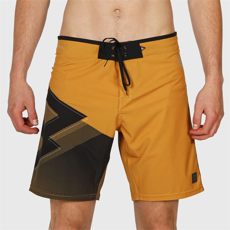 Brunotti Weston-PP  (geel) - heren boardshorts - Brunotti online shop