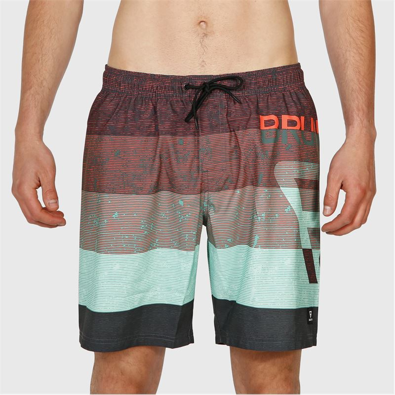 Brunotti Leith-PP  (grijs) - heren boardshorts - Brunotti online shop