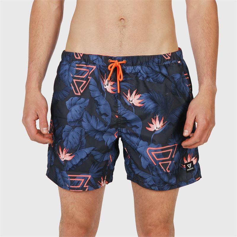 Brunotti Tasker-Flower  (blauw) - heren zwemshorts - Brunotti online shop