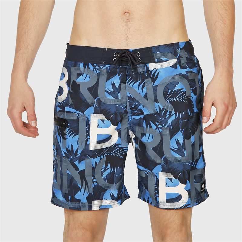 Brunotti Frye-ZIP  (blauw) - heren zwemshorts - Brunotti online shop