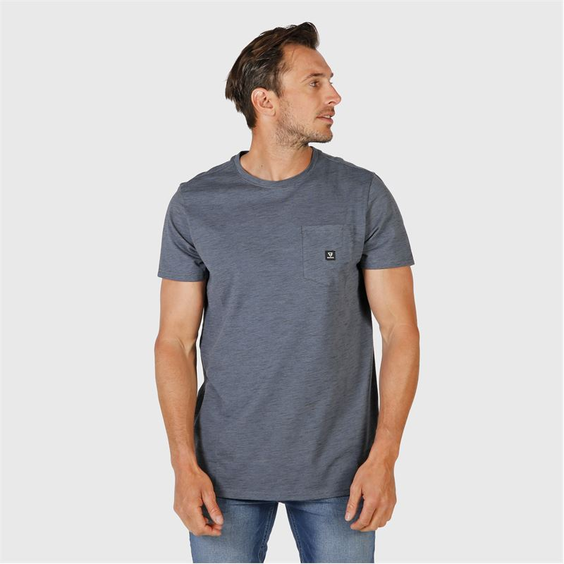 Brunotti Axle-Mini-Stripe  (blau) - herren t-shirts & polos - Brunotti online shop