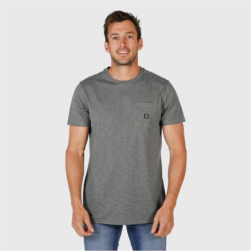 Brunotti Axle-Mini-Stripe  (grey) - men t-shirts & polos - Brunotti online shop