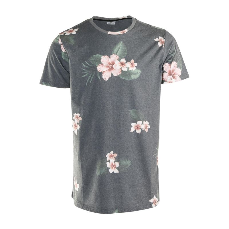 Brunotti Jason-Flower  (grijs) - heren t-shirts & polo's - Brunotti online shop