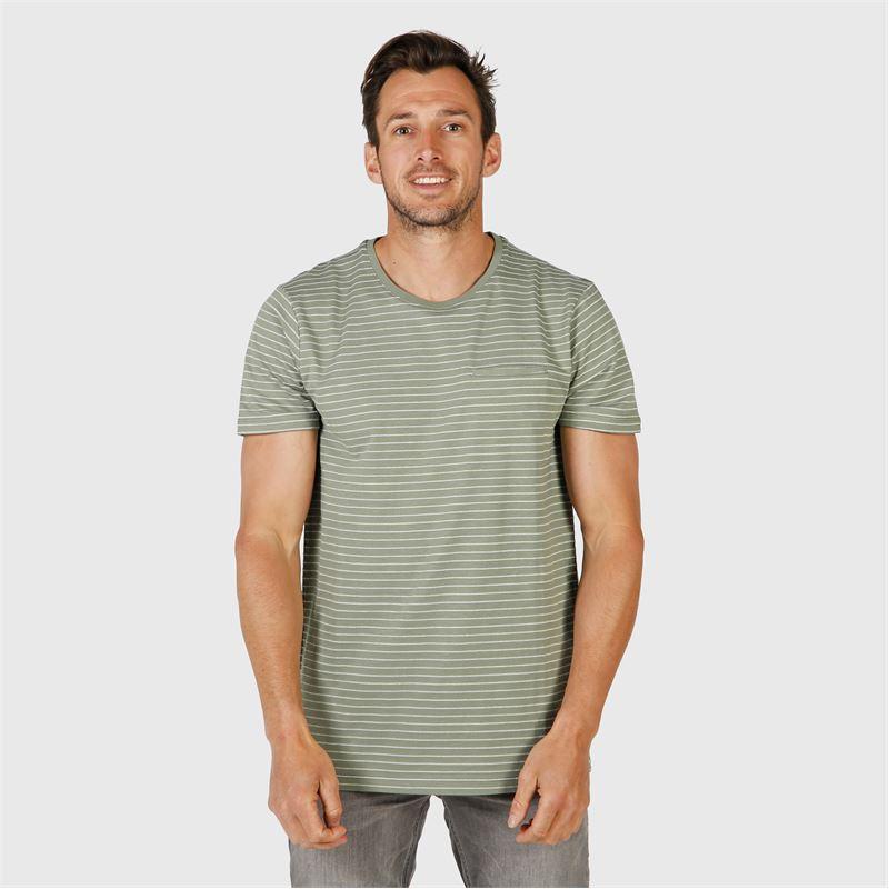 Brunotti Ben-Stripe  (green) - men t-shirts & polos - Brunotti online shop