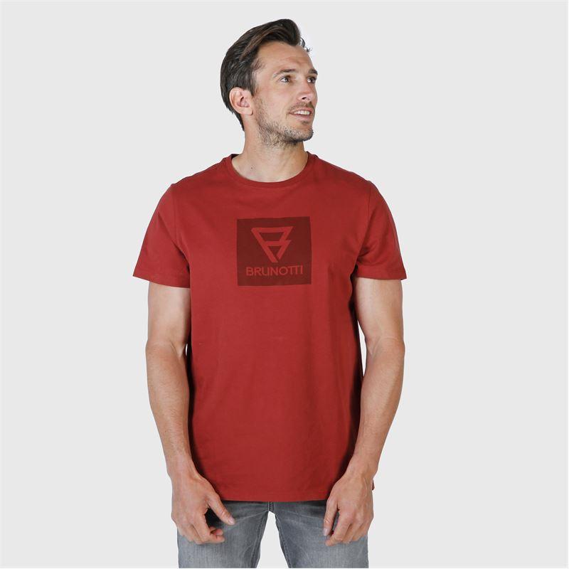 Brunotti John-Logo  (bruin) - heren t-shirts & polo's - Brunotti online shop