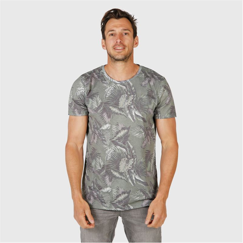 Brunotti Jason-Leaf  (groen) - heren t-shirts & polo's - Brunotti online shop