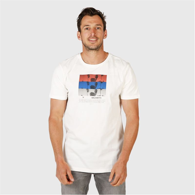 Brunotti Tanner Mens T-shirt (white) - men t-shirts & polos - Brunotti online shop