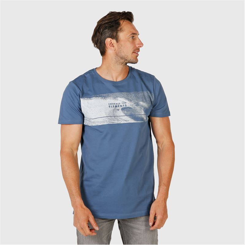 Brunotti Tanner Mens T-shirt (blauw) - heren t-shirts & polo's - Brunotti online shop