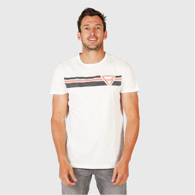 Brunotti Tim-Print  (wit) - heren t-shirts & polo's - Brunotti online shop
