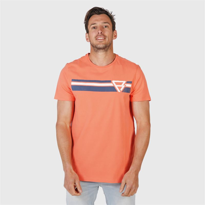 Brunotti Tim-Print  (roze) - heren t-shirts & polo's - Brunotti online shop
