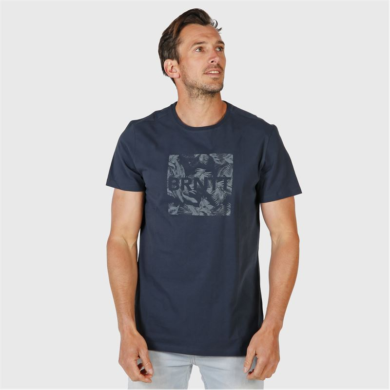 Brunotti Tim-Print  (blue) - men t-shirts & polos - Brunotti online shop