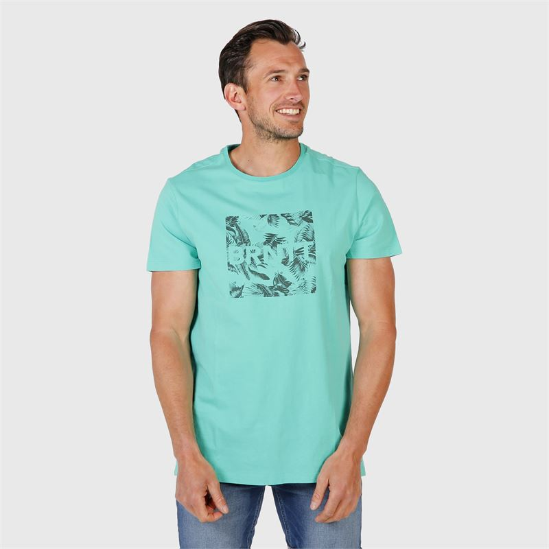 Brunotti Tim-Print  (groen) - heren t-shirts & polo's - Brunotti online shop