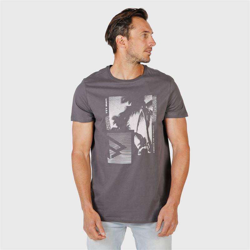 Brunotti Tim-Print  (grey) - men t-shirts & polos - Brunotti online shop