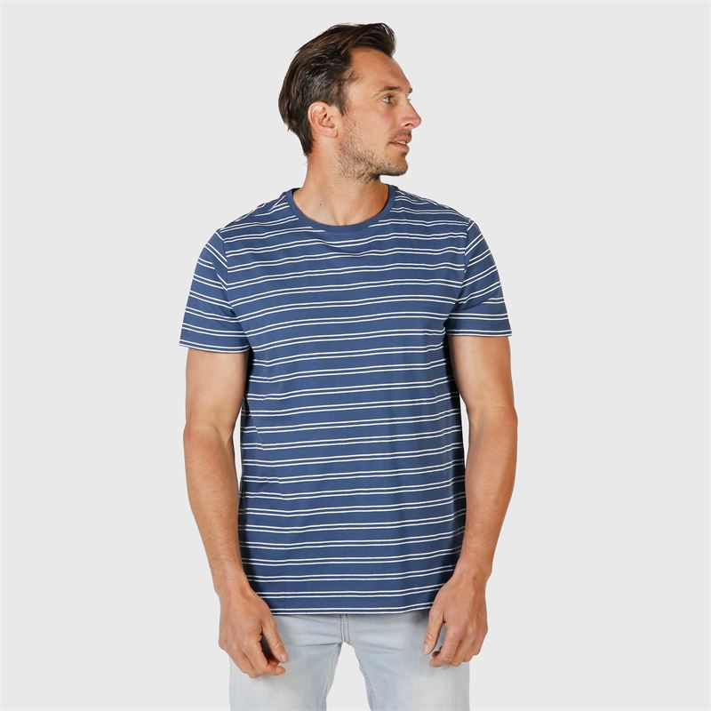 Brunotti Tim-Twin-Stripe  (blau) - herren t-shirts & polos - Brunotti online shop