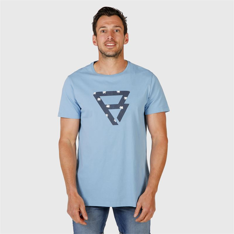 Brunotti Bently-S  (blauw) - heren t-shirts & polo's - Brunotti online shop