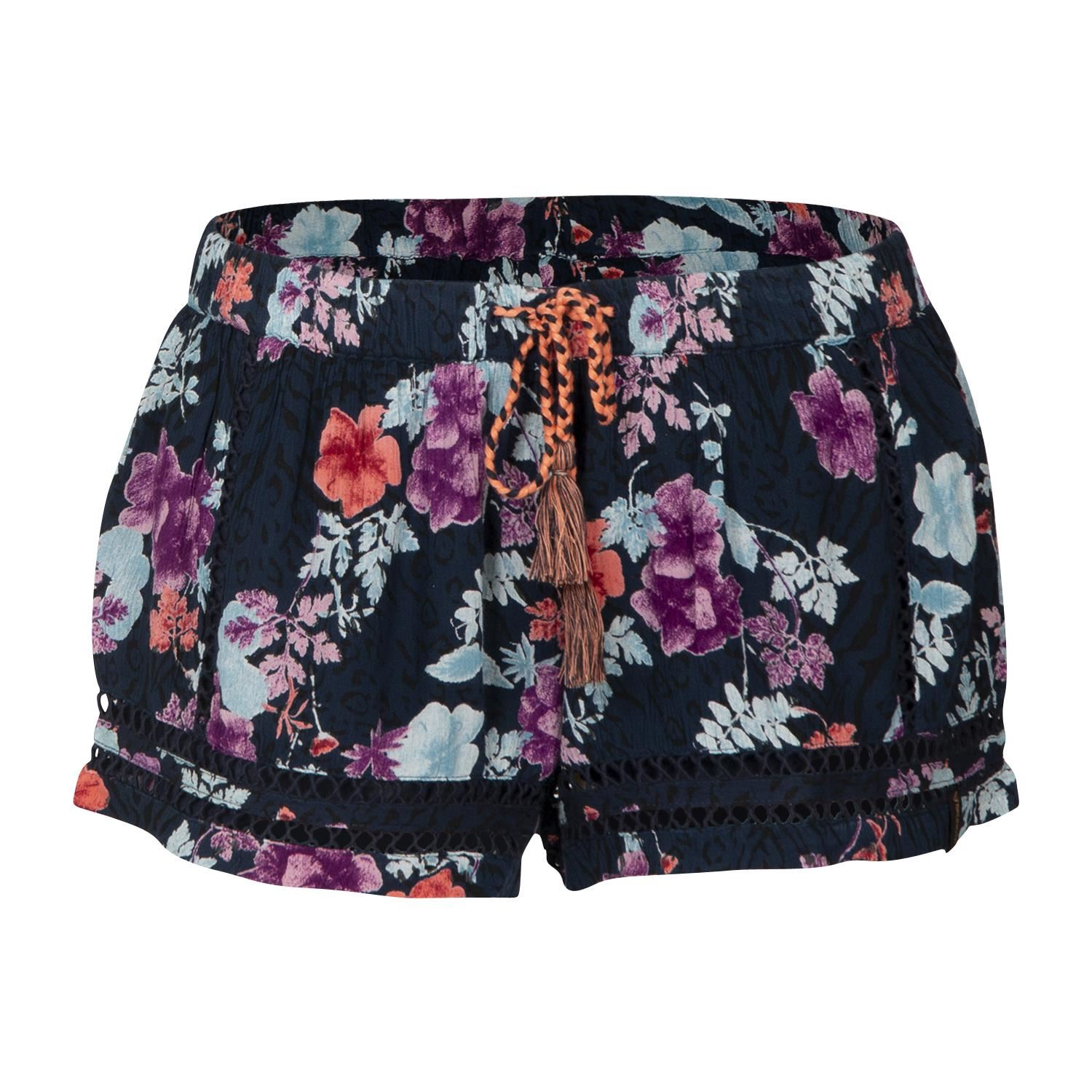 Brunotti Nina-Flower-S  (blauw) - dames casual shorts - Brunotti online shop