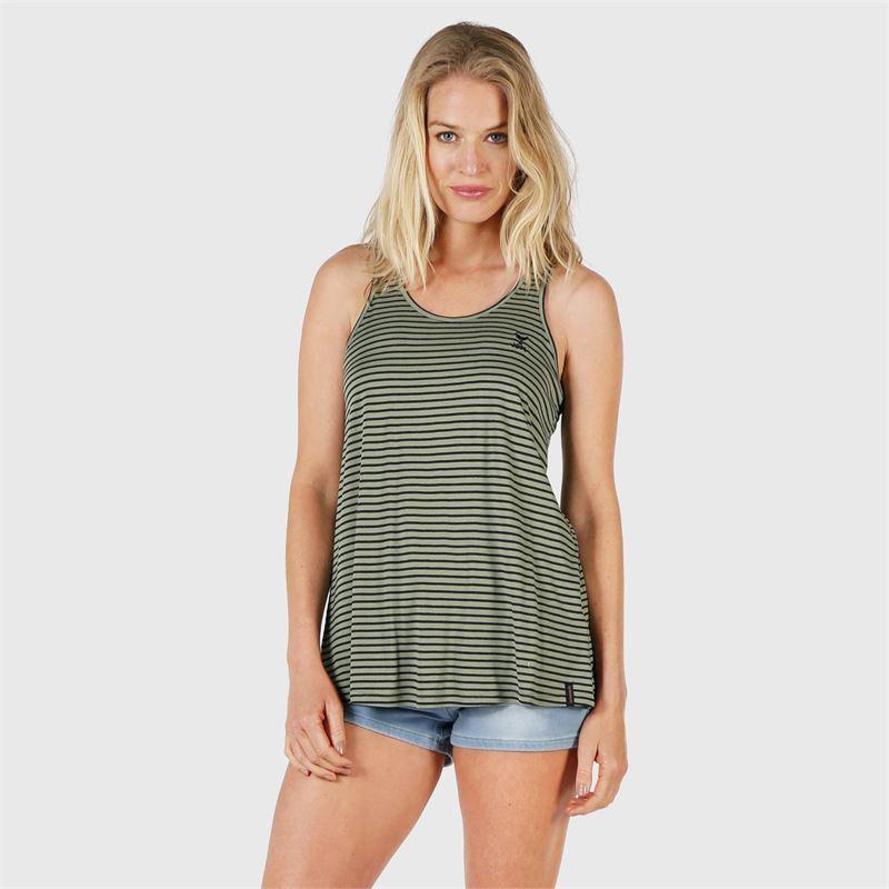 Brunotti Sunbeam-Stripe  (groen) - dames t-shirts & topjes - Brunotti online shop