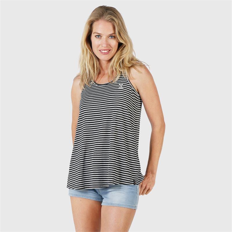 Brunotti Sunbeam-Stripe  (zwart) - dames t-shirts & topjes - Brunotti online shop
