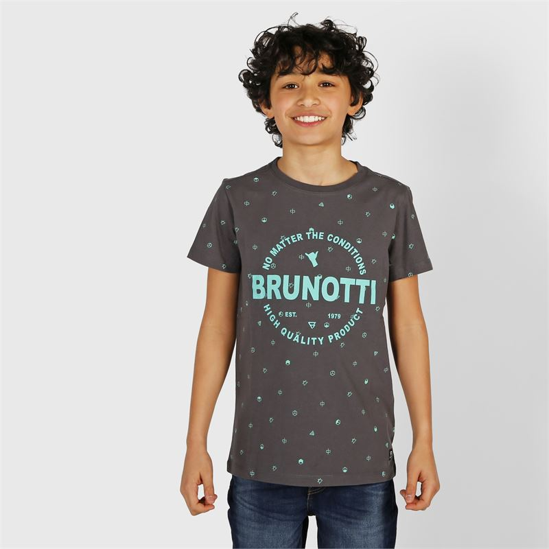 Brunotti Tim-Mini  (grey) - boys t-shirts & polos - Brunotti online shop